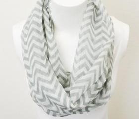 Gray Chevron Scarf, ..