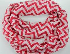 Red Chevron Scarf, C..